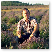 Gary Young on his Lavender Farm